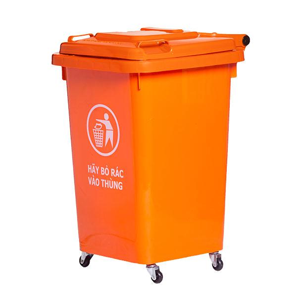 Thùng rác 60 lít bằng nhựa giành cho trường học
