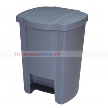 Thùng rác nhựa HDPE đạp chân hình vuông