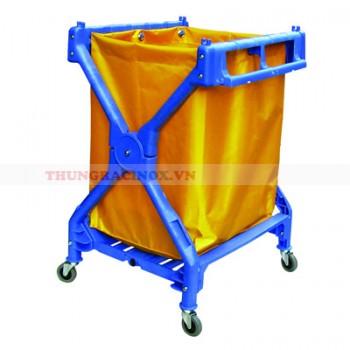 Xe chở đồ giặt là hình chữ X khung nhựa HDPE