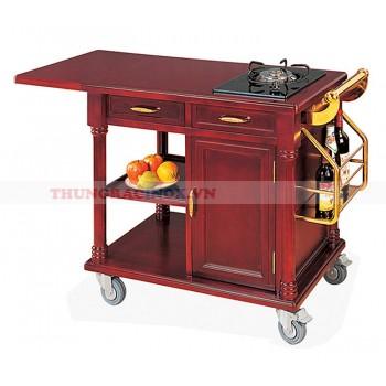 Bàn bếp di động bằng gỗ loại nhỏ