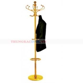cây treo quần áo bằng inox mạ vàng