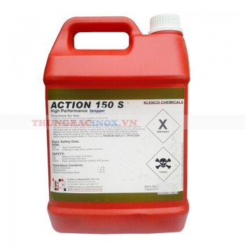 hóa chất bóc tẩy lớp sáp phủ bóng sàn đá action 150s
