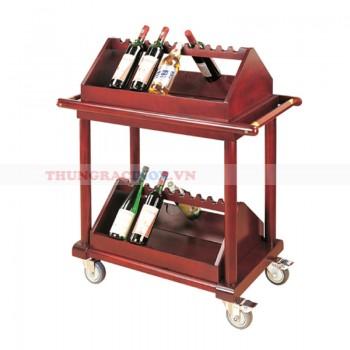 Kệ để rượu bằng gỗ di động