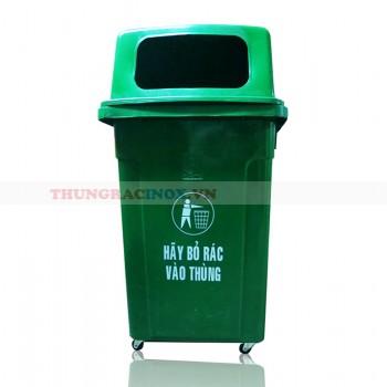 Thùng đựng rác nhựa HDPE 95L có bánh xe