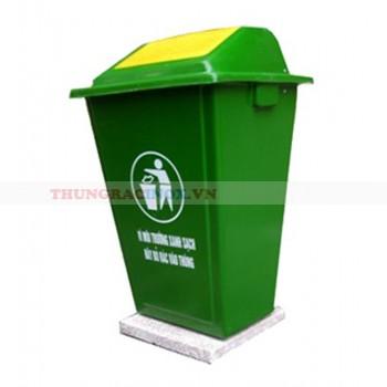 Thùng rác composite đế đá 60L