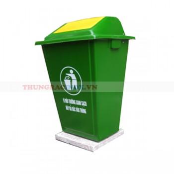 Thùng rác nhựa 90 lít đế đá