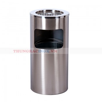 thùng rác inox gạt tàn cho gia đình