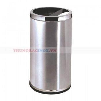 Thùng rác inox hai ngăn có gạt tàn