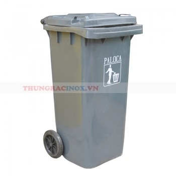 Thùng rác nhựa 120 lít màu ghi