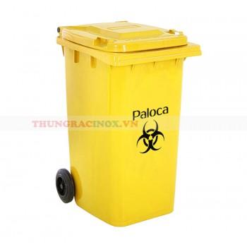 Thùng rác nhựa 240L màu vàng