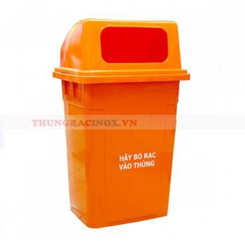 Thùng rác nhựa 60 lít nắp hở
