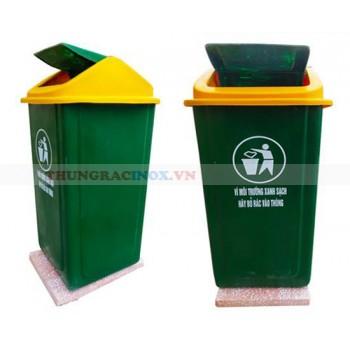 Thùng rác nhựa composite 50 lít cố định