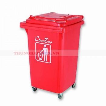 Thùng rác nhựa màu đỏ 60 lít