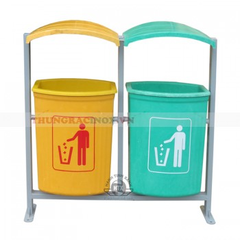 Thùng rác nhựa treo đôi