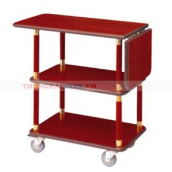 Xe đẩy phục vụ bàn bằng gỗ WY-07