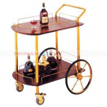 Kệ bầy rượu có bánh xe