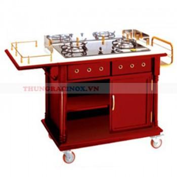 Tủ bếp di động nấu ăn tại bàn