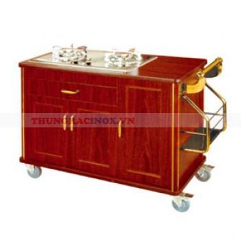 Tủ bếp ga bằng gỗ di động giá rẻ