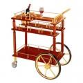 Kệ đẩy rượu bằng gỗ nhập khẩu
