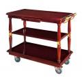 Xe đẩy phục vụ bàn bằng gỗ 3 tầng WY-09