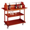 Xe đẩy phục vụ rượu 3 tầng bằng gỗ