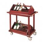 Kệ để rượu bằng gỗ di động giá rẻ