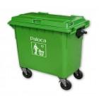 Thùng rác nhựa công nghiệp có bánh xe 660L