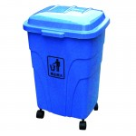 Thùng rác nhựa HDPE có bánh xe 70 Lít
