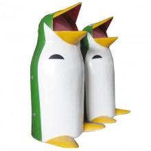 thùng rác chim cánh cụt nhựa composite
