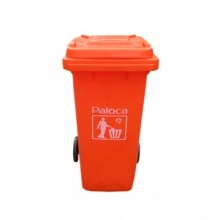thùng rác 120 lít màu cam