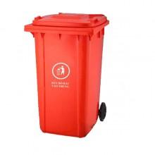 Thùng rác nhựa màu đỏ 240 lít