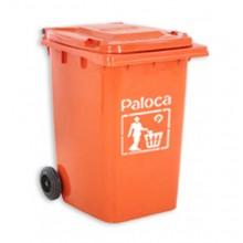 Thùng rác nhựa 90 lít màu cam