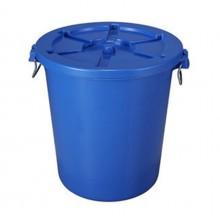 Thùng rác nhựa tròn mầu xanh