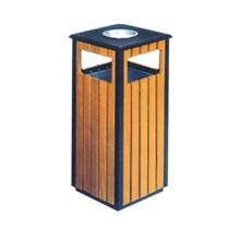 Thùng đựng rác gỗ công cộng có gạt tàn thuốc