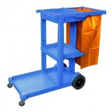Xe dọn làm vệ sinh 3 tầng chữ L có túi đựng giá rẻ