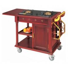 Xe phục vụ bàn có bếp nấu ăn