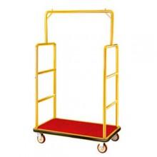 xe vận chuyển hành lý bằng inox mạ vàng