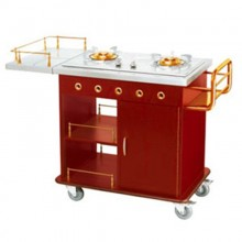 Tủ bếp di động có bàn phục vụ cao cấp