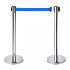 Cột chắn inox trắng dây xanh 1.8m