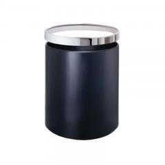 Thùng rác thép phun sơn vành inox bóng 275mm