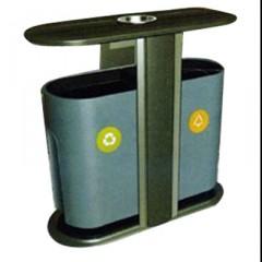 Thùng đựng rác hai ngăn phân loại rác thải có gạt tàn thuốc lá