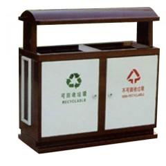 Thùng đựng rác công cộng kim loại hai ngăn giá rẻ