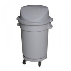 Thùng rác nhựa tròn nắp đậy có bánh xe