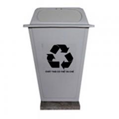 Thùng rác nhựa 50 lít màu trắng