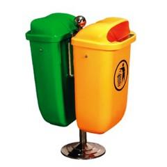 Thùng rác đôi bằng nhựa nhập khẩu