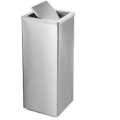 thùng rác inox nắp lật hình vuông