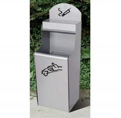 Thùng rác inox ngoài trời hình chữ H