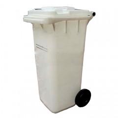 Thùng rác nhựa 120 lít màu trắng