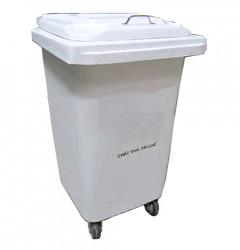 Thùng rác nhựa 240 lít màu trắng
