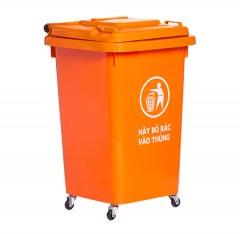 Thùng rác nhựa 50 lít màu cam